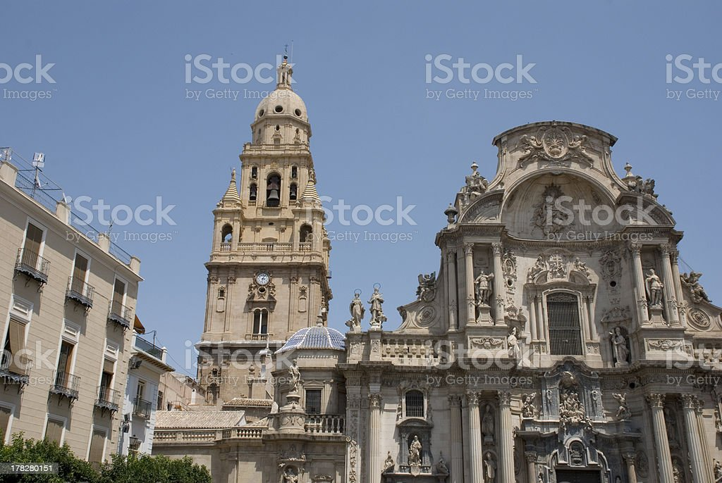 Cathedral of Murcia royalty-free stock photo