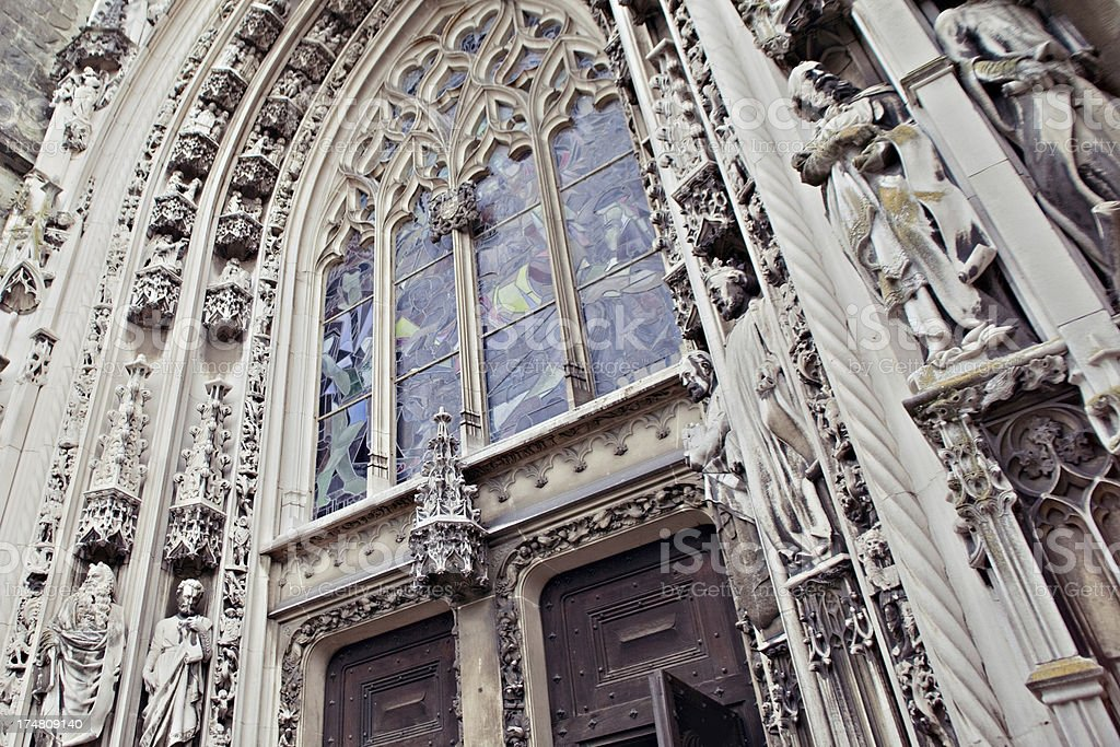 Cathedral of Notre Dame in Lausanne royalty-free stock photo