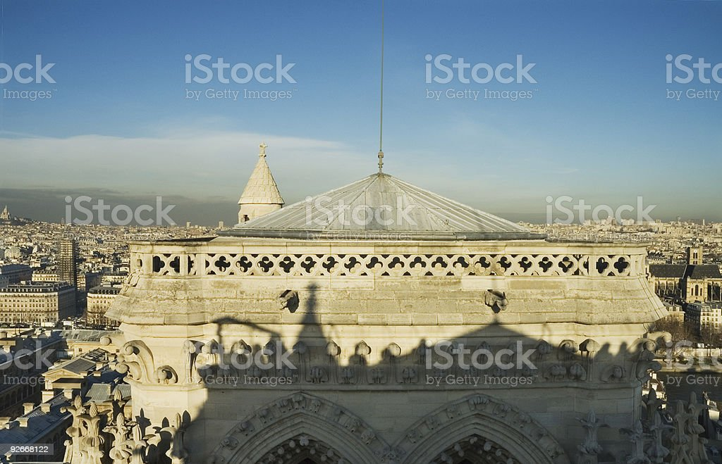 Cathedral of Notre Dame, northern tower royalty-free stock photo