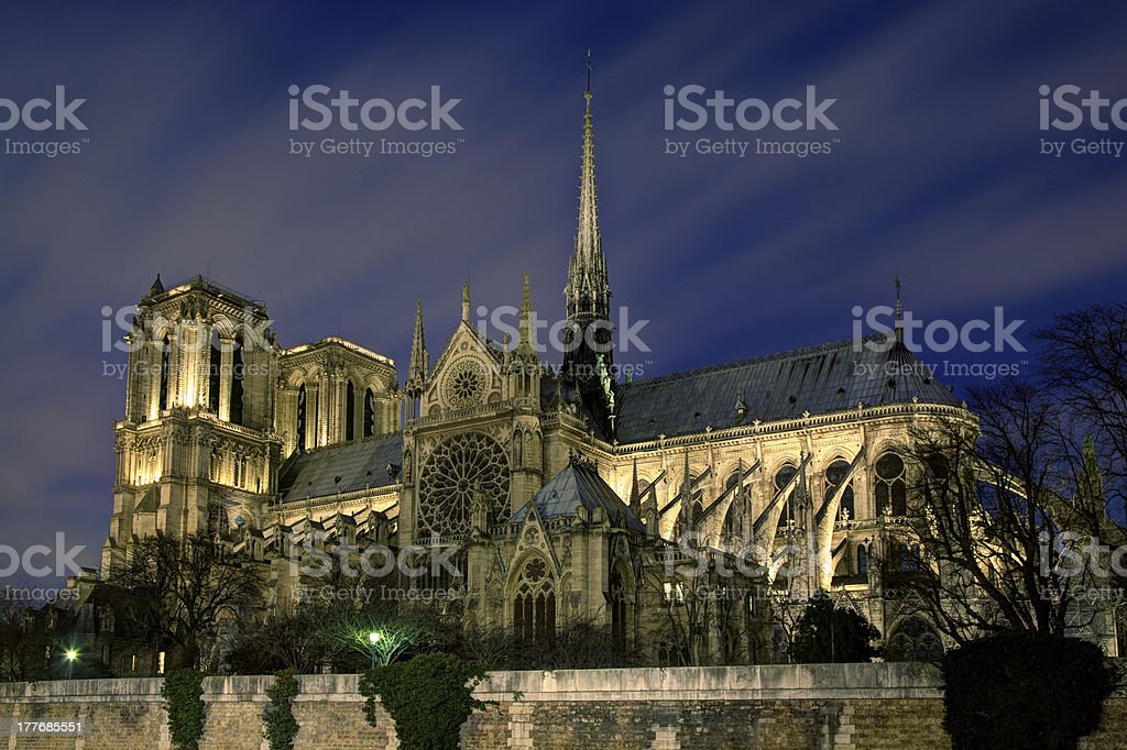 Cathedral of Notre Dame, Paris royalty-free stock photo