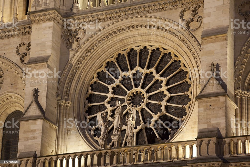 Cathedral of Notre Dame, Paris stock photo