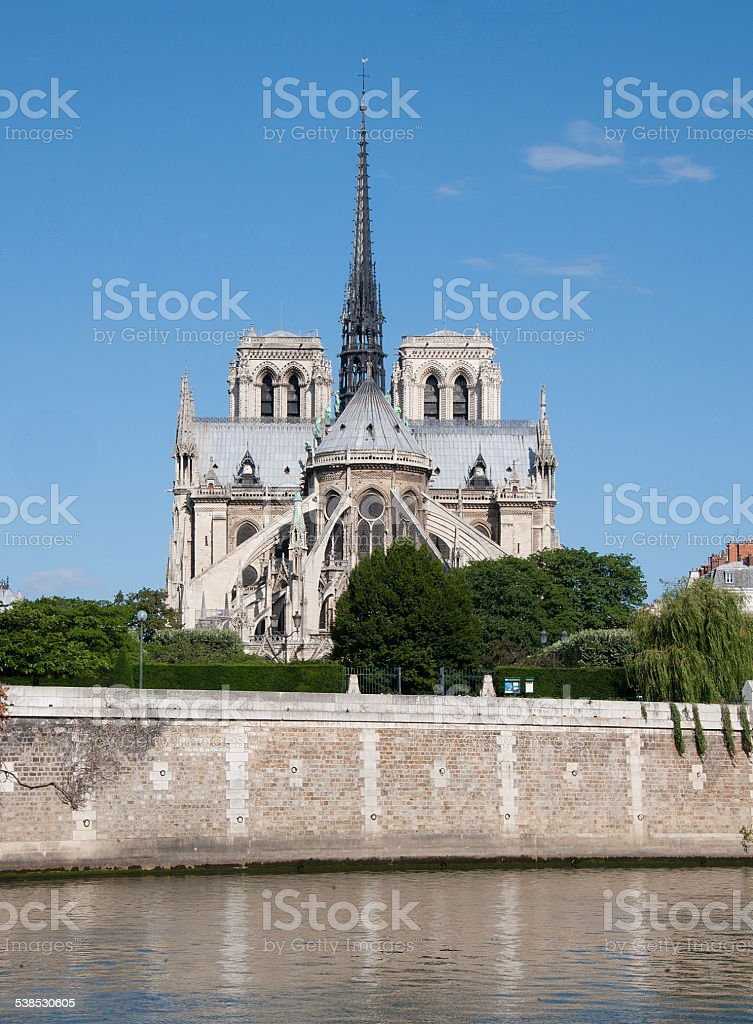 Cath?drale de Notre Dame (Paris, France) stock photo