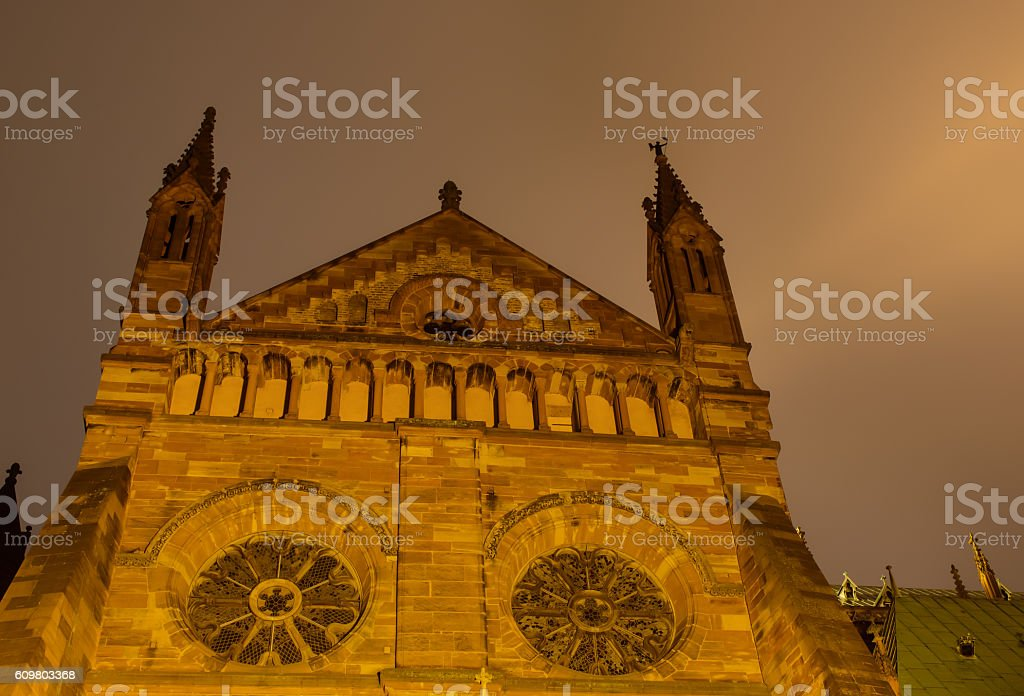 Cathedral of Notre-Dame in Strasbourg stock photo