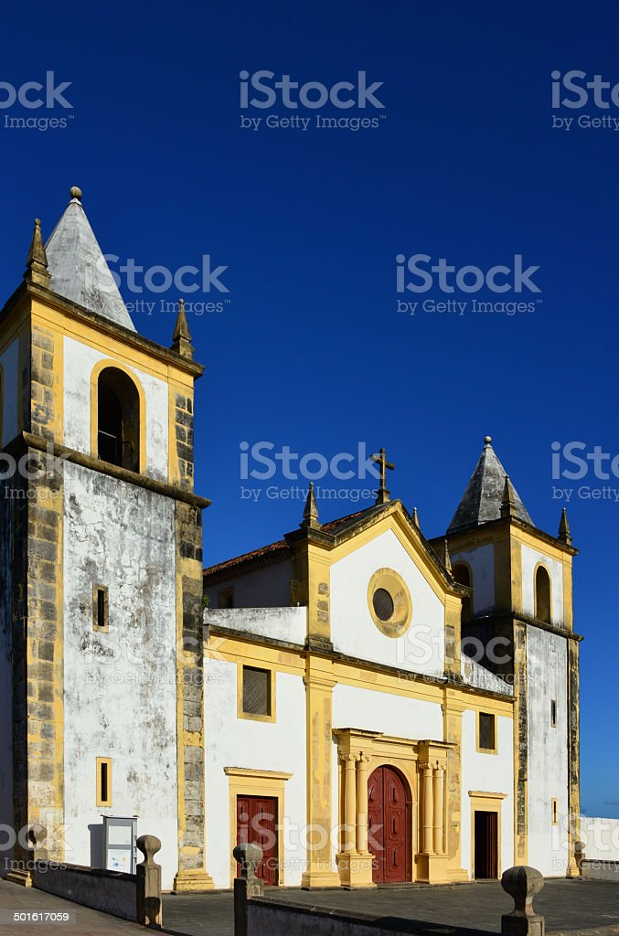 Cathedral of Olinda, UNESCO World Heritage Site royalty-free stock photo