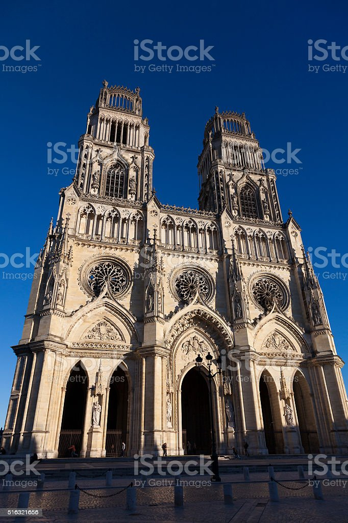 Cathedral of Orleans stock photo