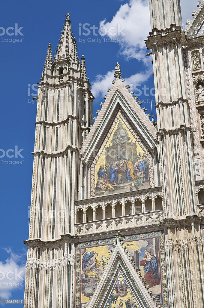 Cathedral of Orvieto. Umbria. Italy. royalty-free stock photo