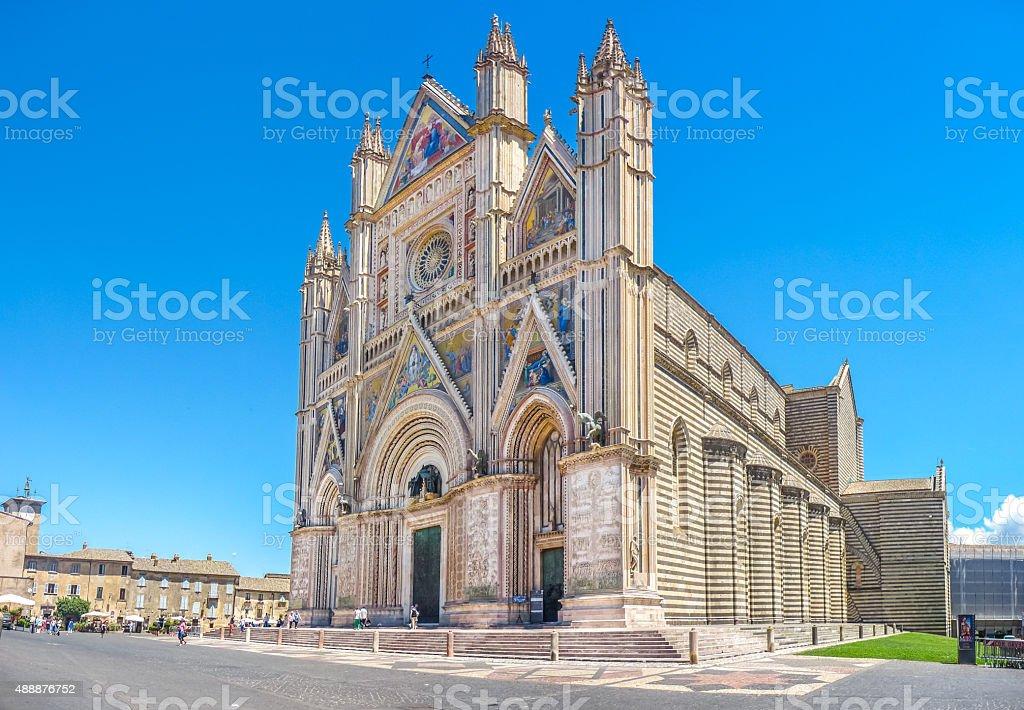 Cathedral of Orvieto (Duomo di Orvieto), Umbria, Italy stock photo