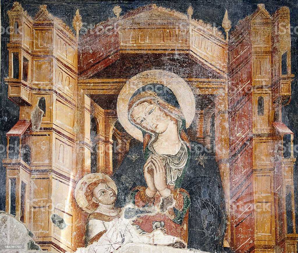 Cathedral of Otranto, Mural. stock photo