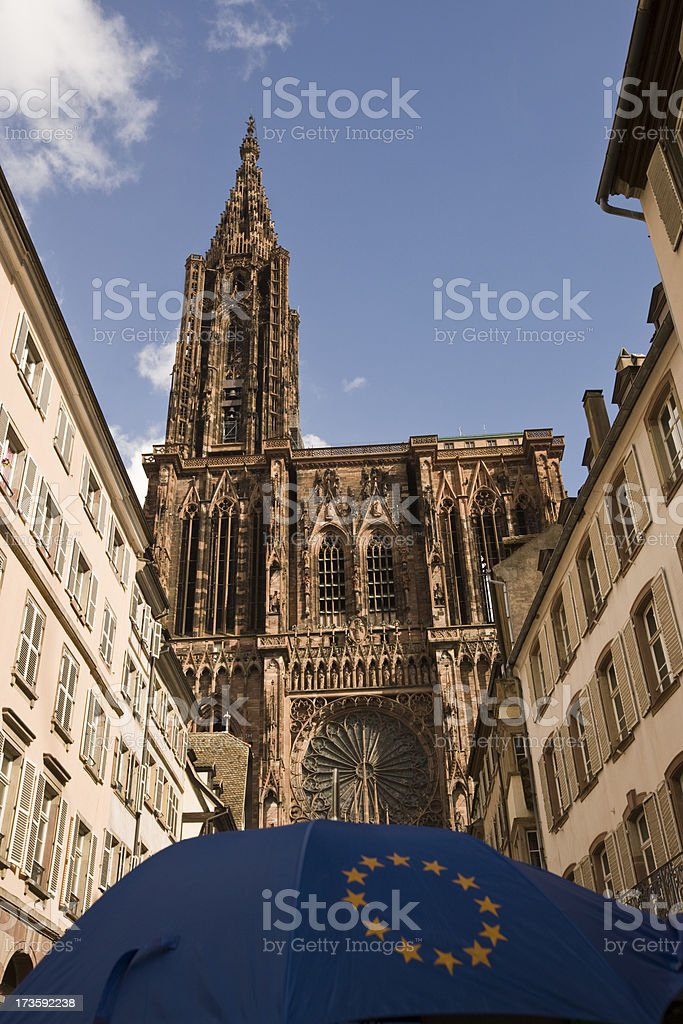 Cathedral of Our Lady at Strasbourg stock photo