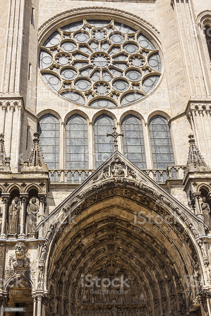 Cathedral of Our Lady - Chartres, France royalty-free stock photo