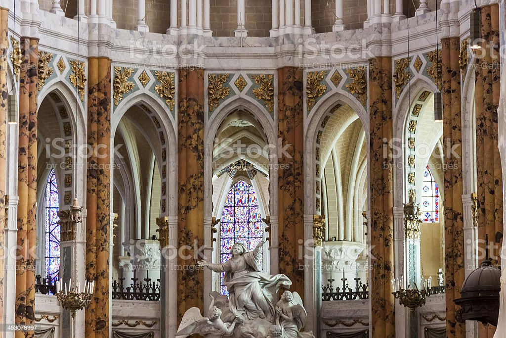 Cathedral of Our Lady, Chartres - France. stock photo