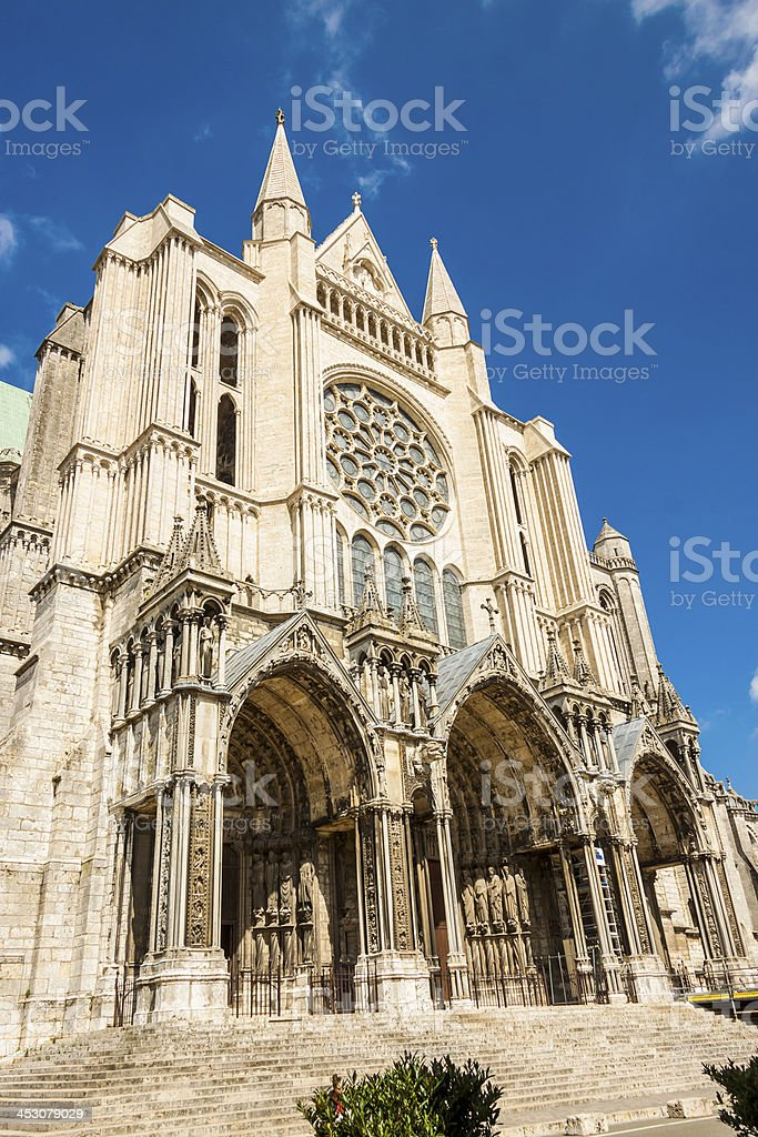 Cathedral of Our Lady, Chartres - France. royalty-free stock photo