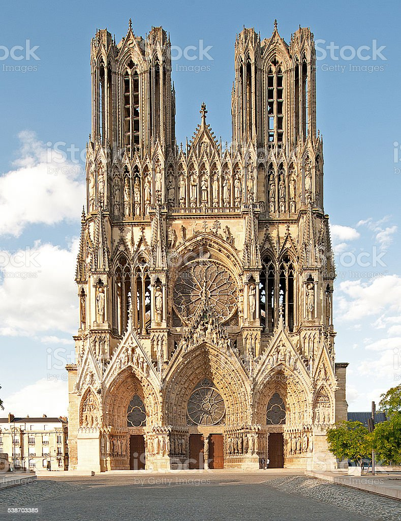 Cathedral of Our Lady of Reims (Cathédrale Notre-Dame)1 (Reims, France) stock photo