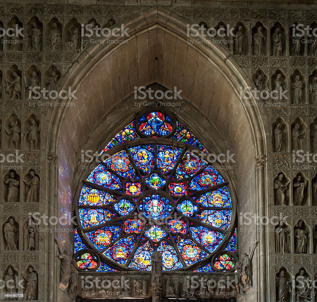 Cathedral of Our Lady of Reims (Cath?drale Notre-Dame)18 (Reims, France) stock photo