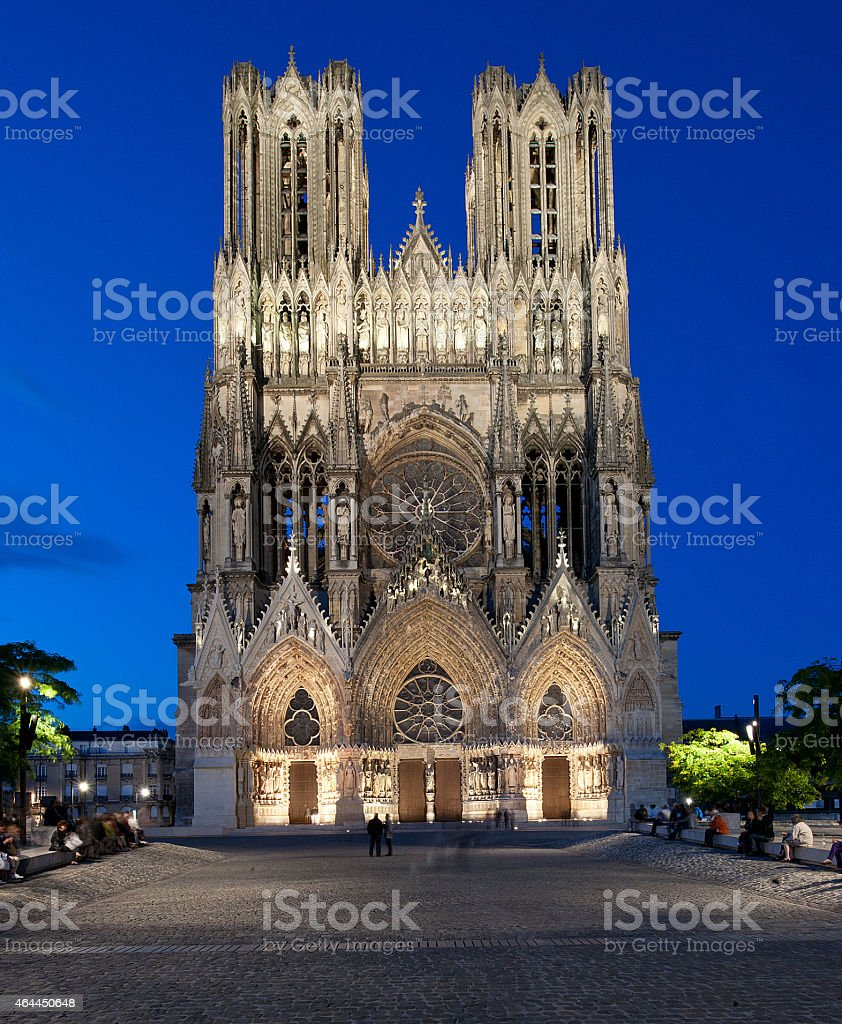 Cathedral of Our Lady of Reims (Cathédrale Notre-Dame)7 (Reims, France) stock photo