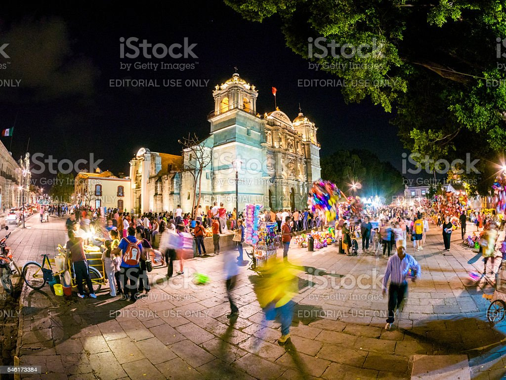 Cathedral of Our Lady of the Assumption in Oaxaca, Mexico stock photo