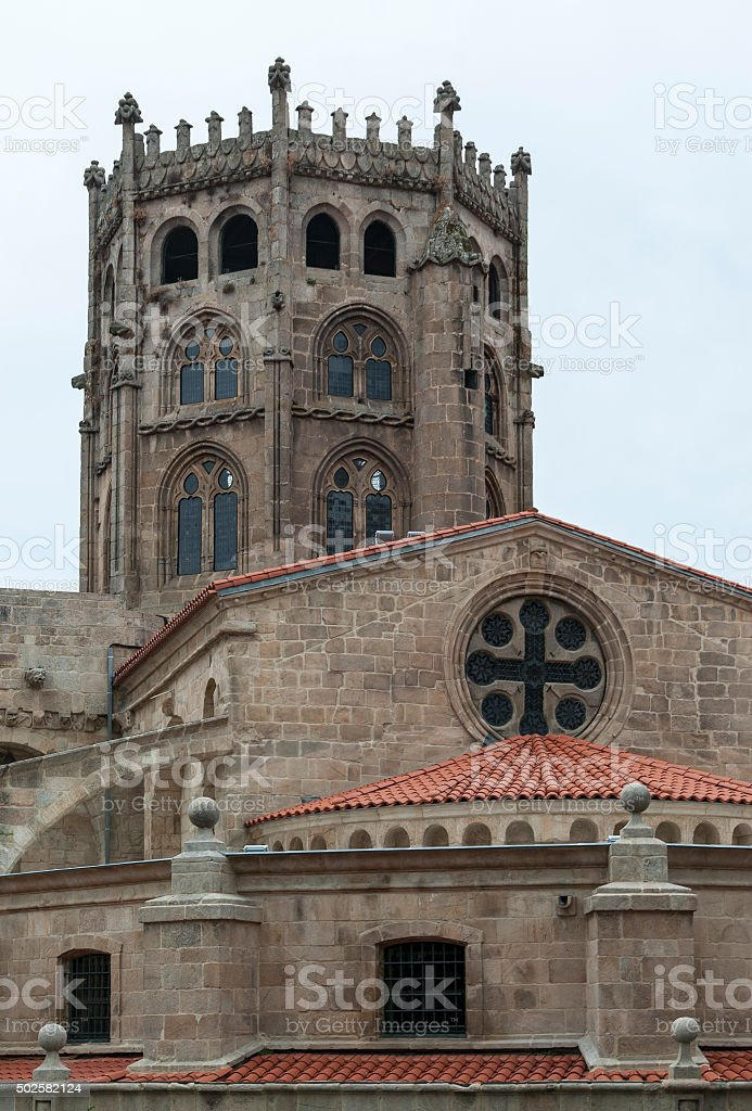 Cathedral of Ourense (Spain) stock photo