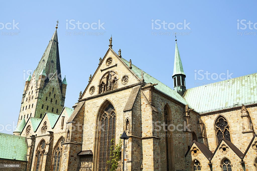 Cathedral of Paderborn stock photo