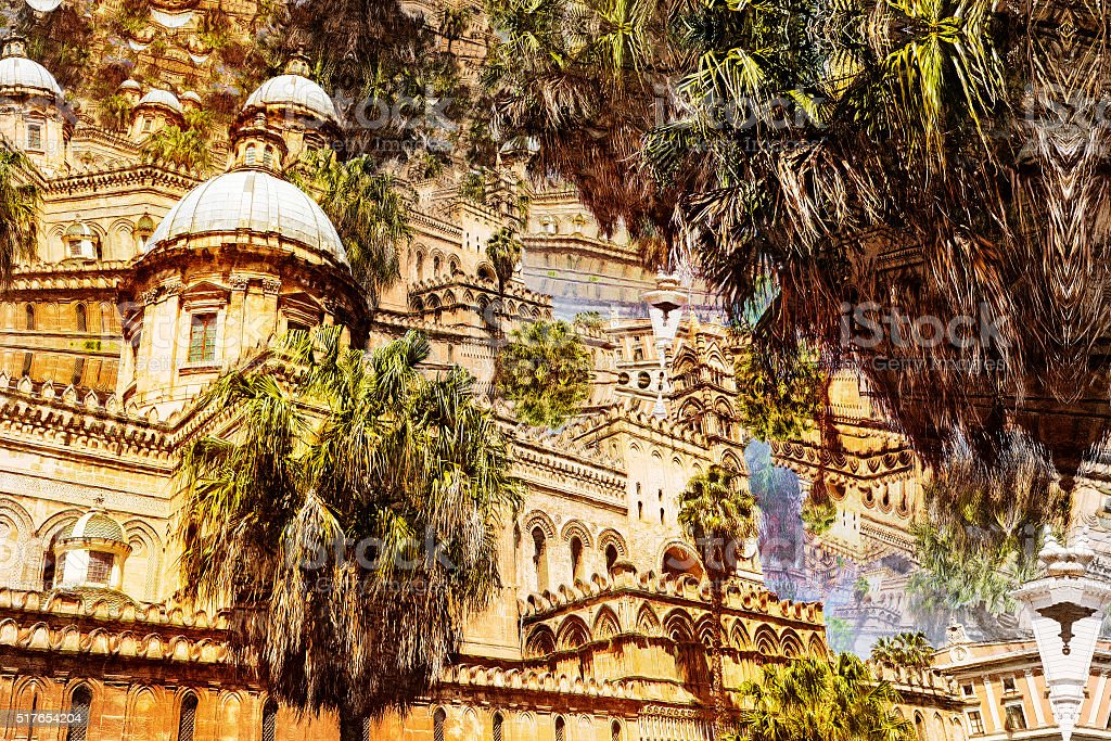 Cathedral of Palermo in Sicily, Italy - Abstract photo stock photo