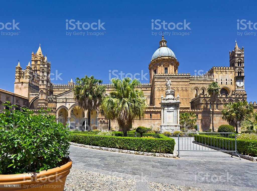 Cathedral of Palermo on Sicily in Italy stock photo