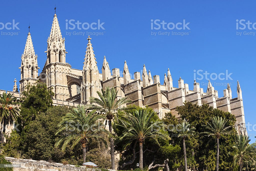 Cathedral of Palma de Mallorca royalty-free stock photo