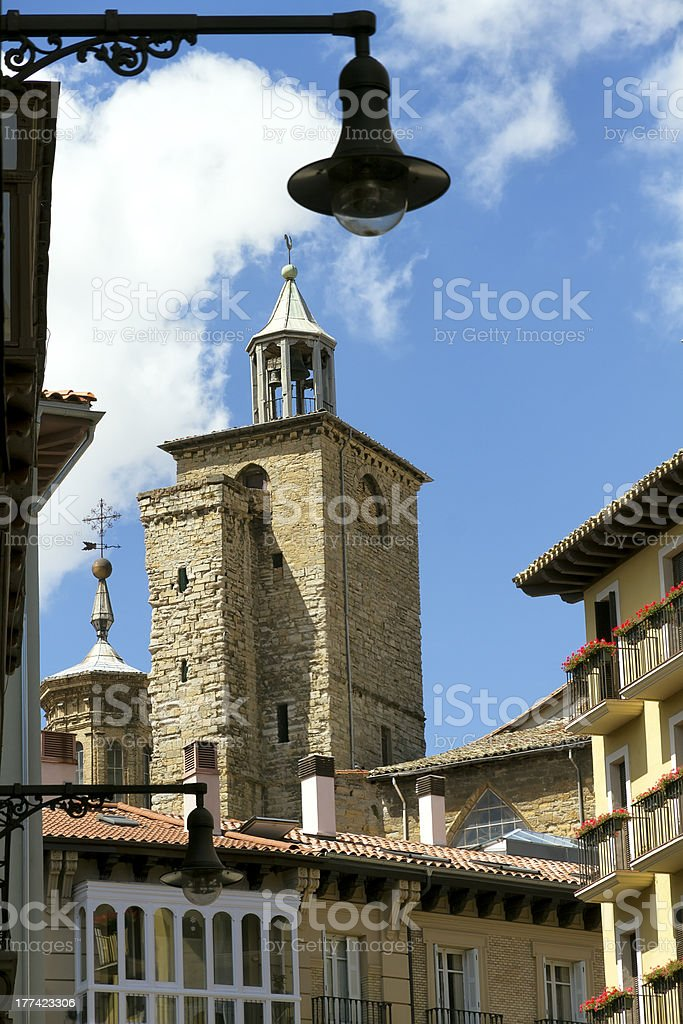 Cathedral of Pamplona, Navarra, Spain stock photo