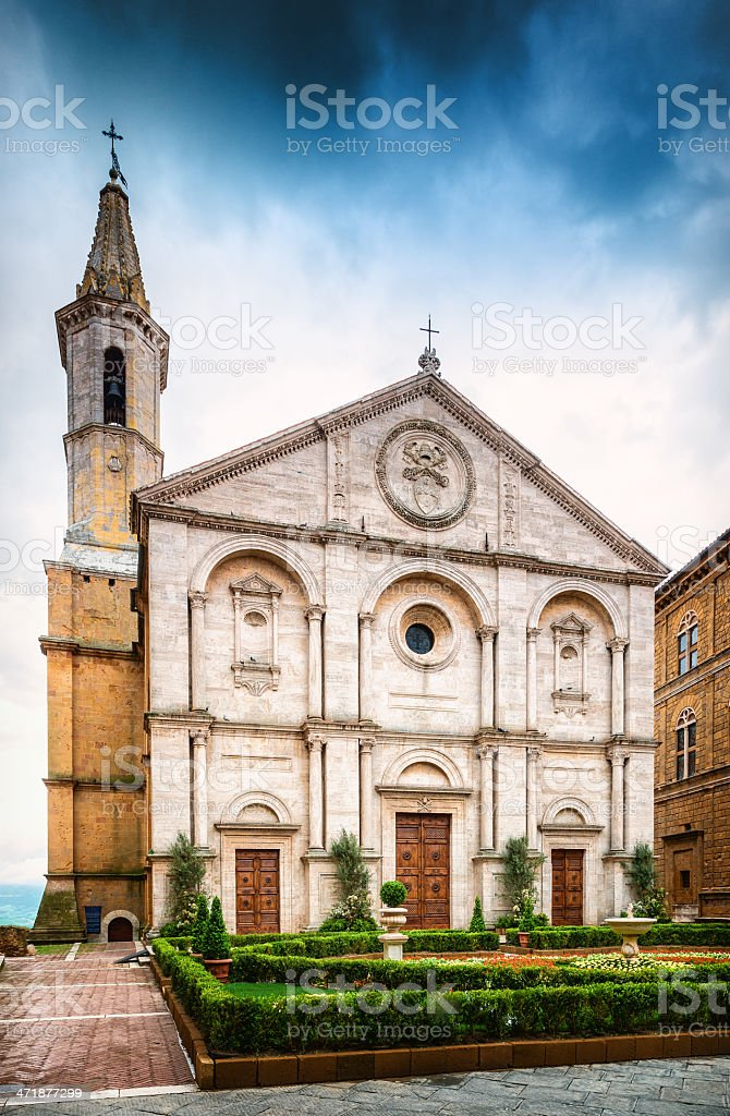 Cathedral of Pienza, Tuscany royalty-free stock photo