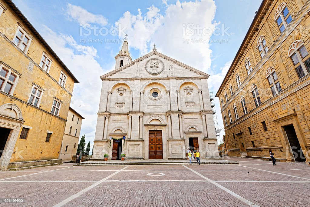 Cathedral of Pienza, Tuscany stock photo