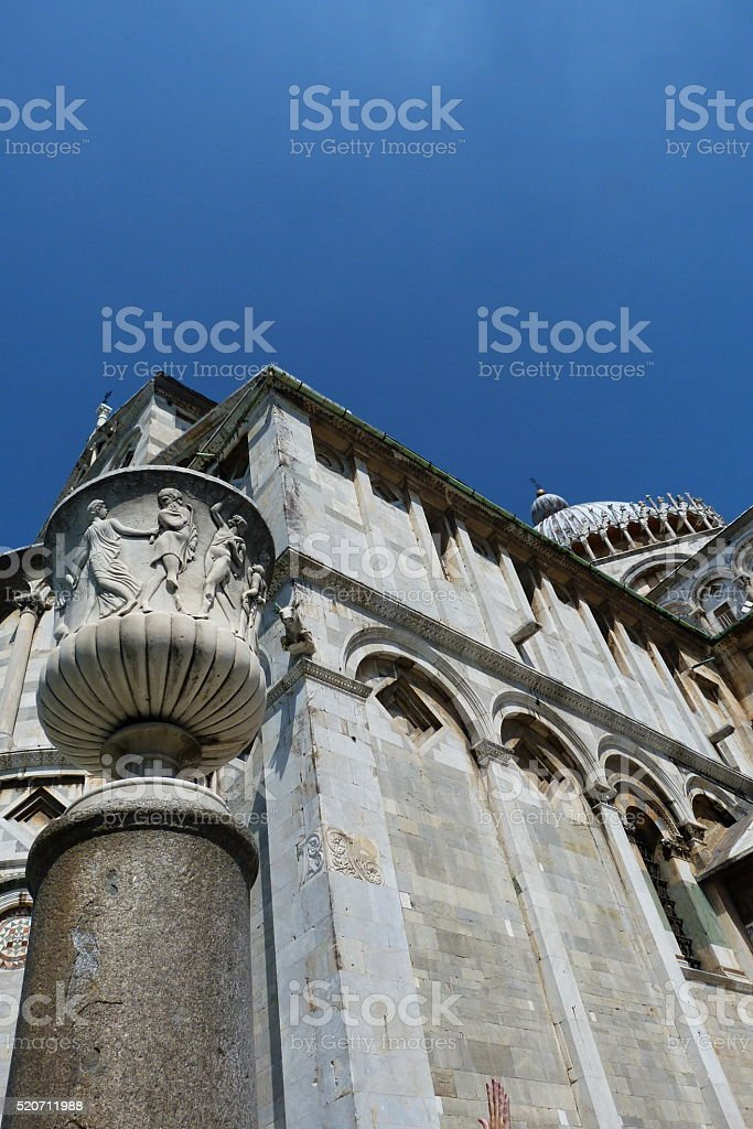 Cathedral of Pisa and crater of talent stock photo