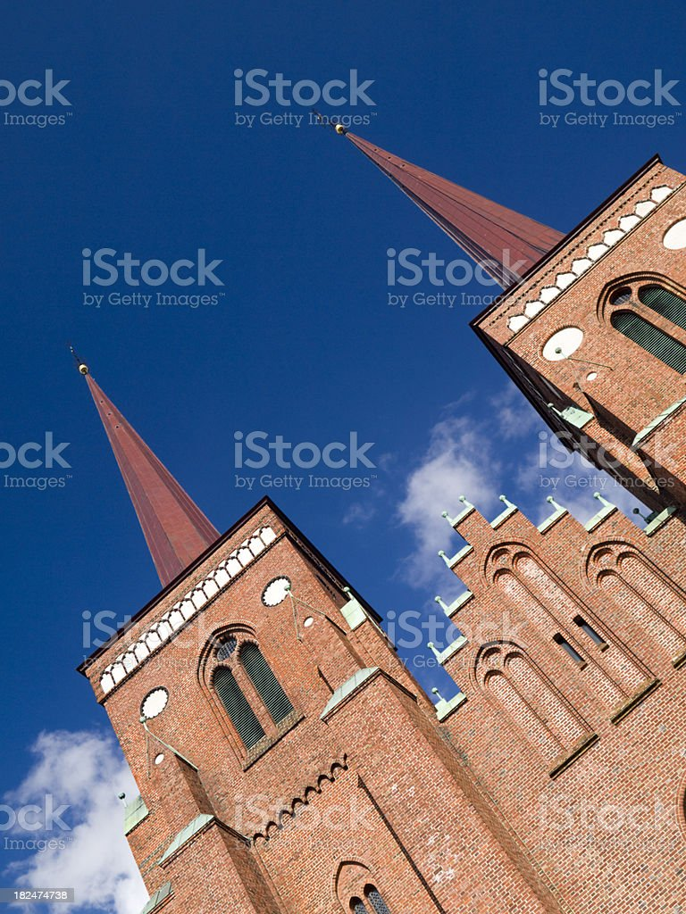 Cathedral of Roskilde stock photo