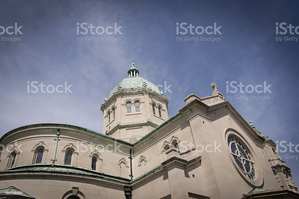 Cathedral of Sacred Heart stock photo