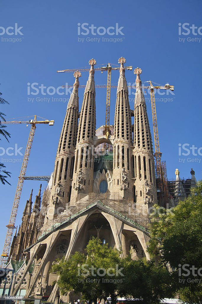 Cathedral of Sagrada Familia royalty-free stock photo