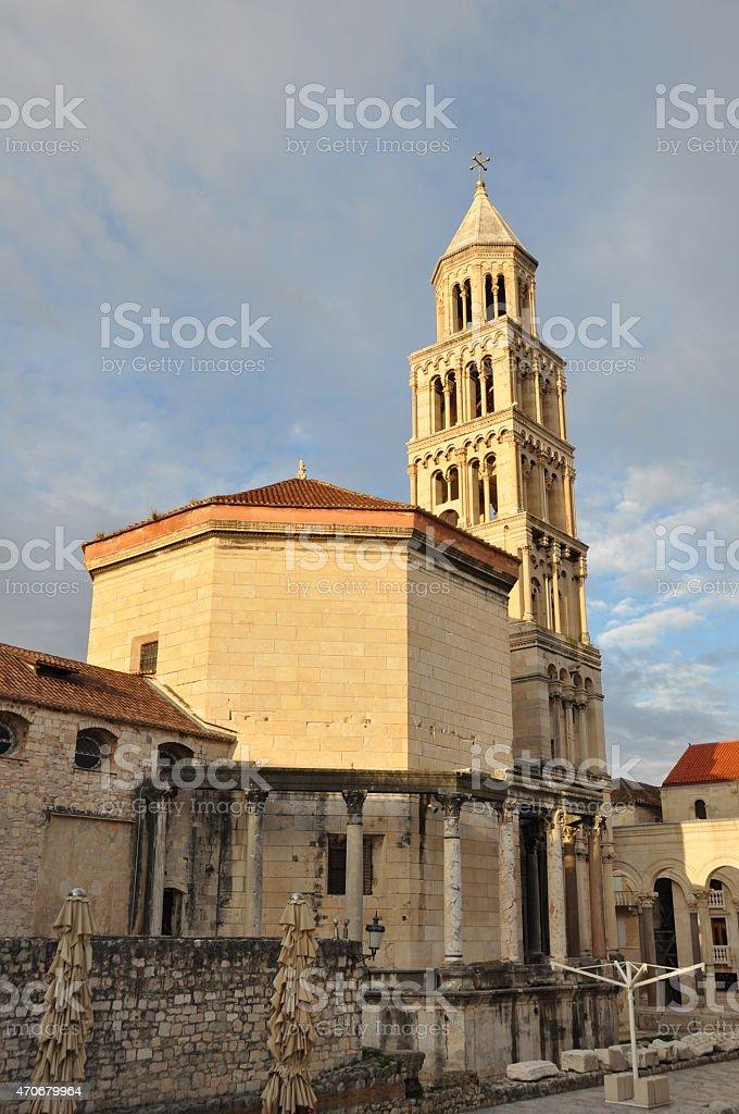 Cathedral of Saint Domnius in Split Croatia stock photo