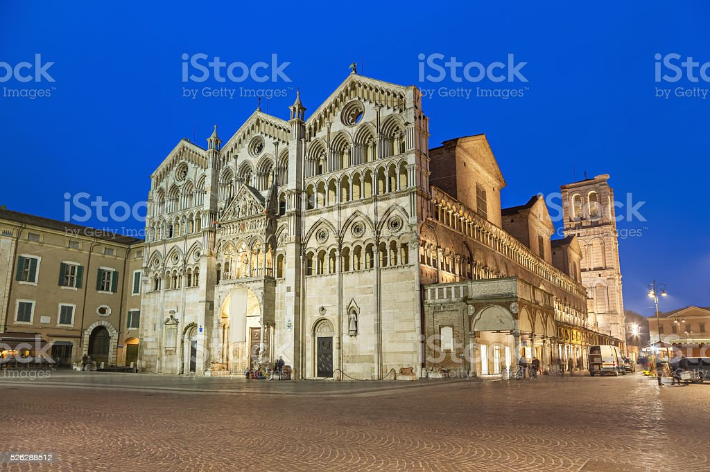 Cathedral of Saint George the Martyr, Ferrara stock photo