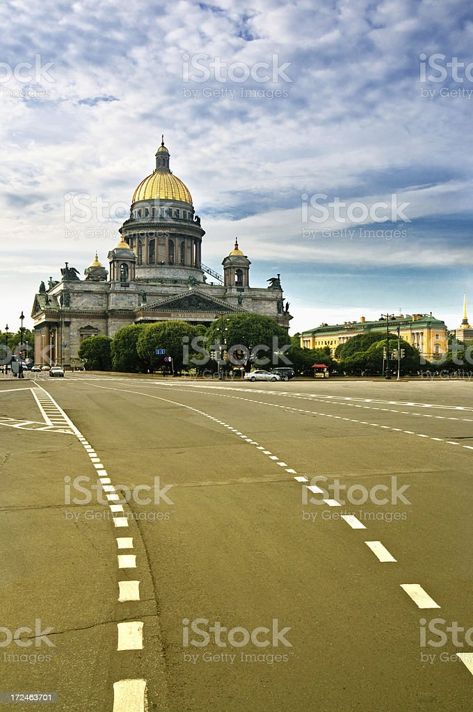 Cathedral of Saint Isaak in St. Petersburg royalty-free stock photo