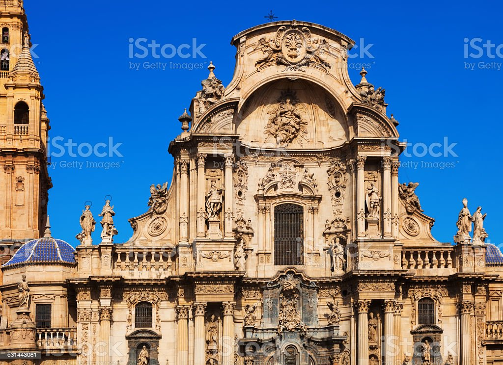 Cathedral  of Saint Maria in Murcia stock photo