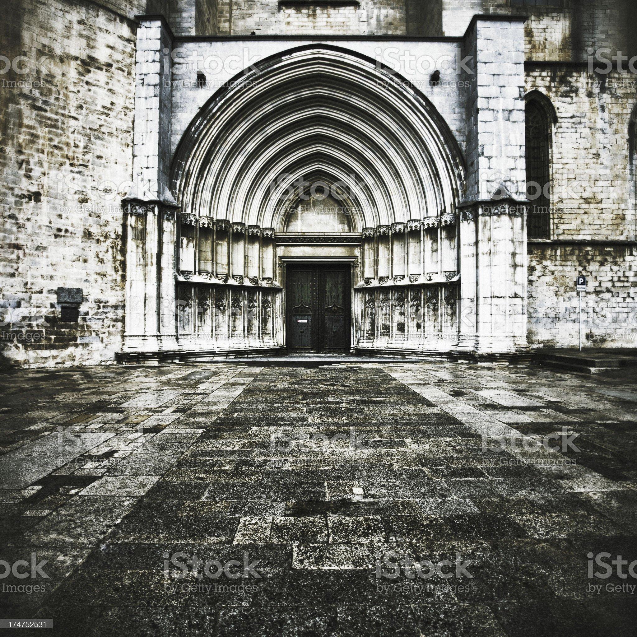 Cathedral of Saint Mary, Girona royalty-free stock photo