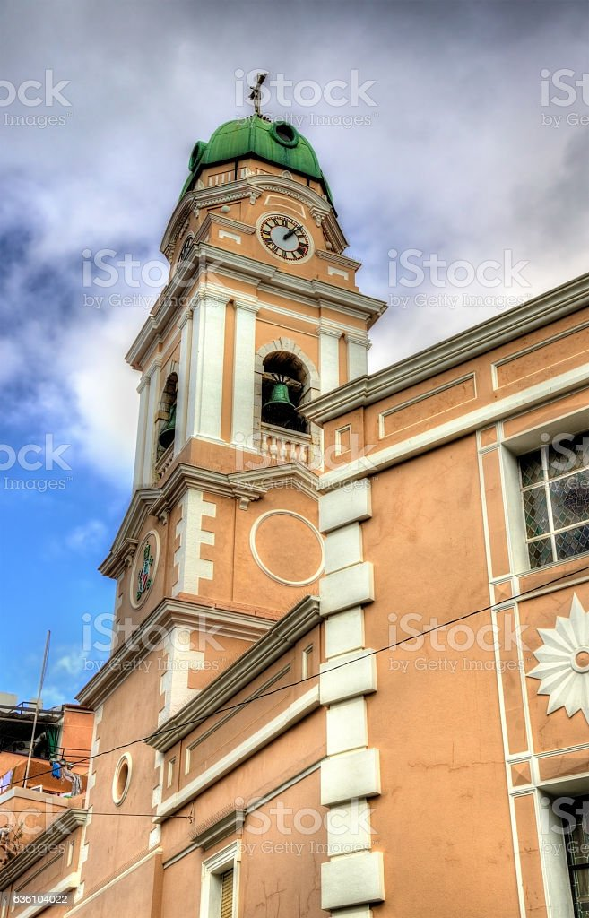 Cathedral of Saint Mary the Crowned in Gibraltar stock photo