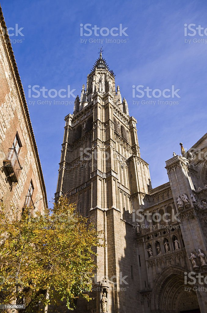 Cathedral of Saint Mary, Toledo stock photo