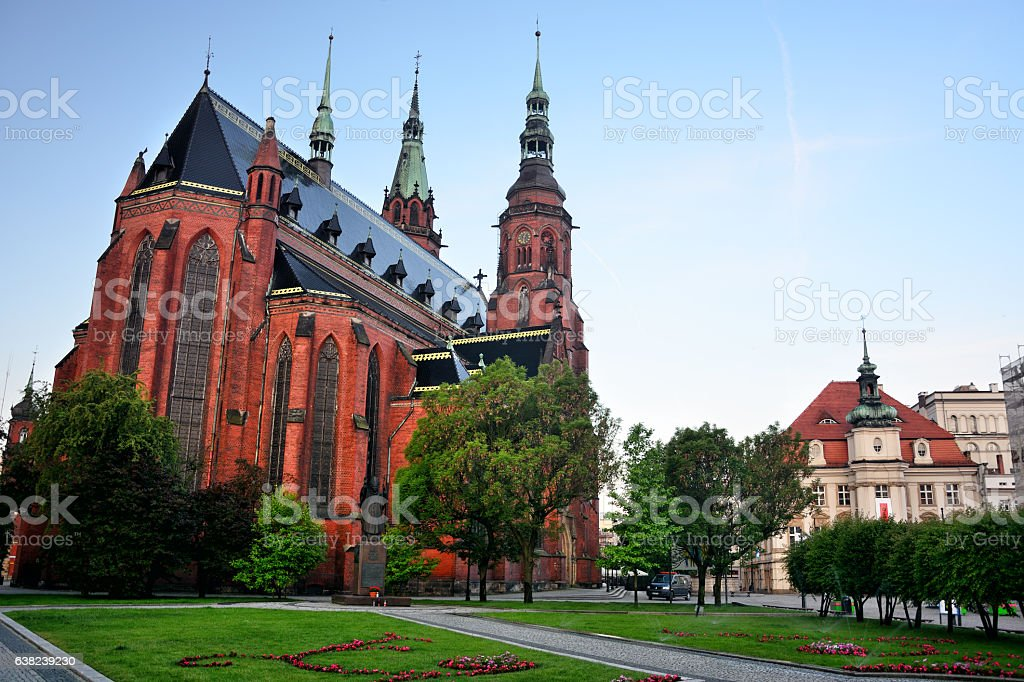 Cathedral of Saints Peter and Paul, Legnica stock photo