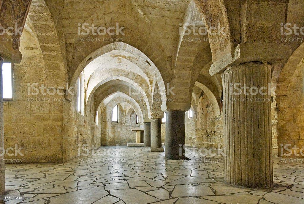 Cathedral of San Cataldo, crypta close-up royalty-free stock photo