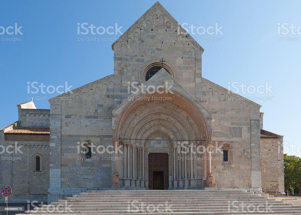 Cathedral of San Ciriaco in Ancona stock photo