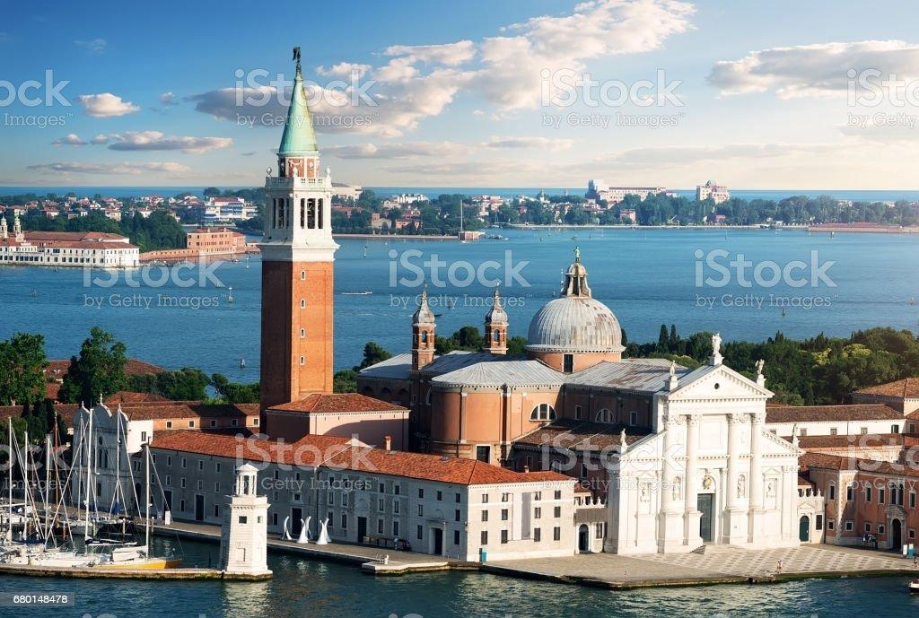 Cathedral of San Giorgio Maggiore stock photo