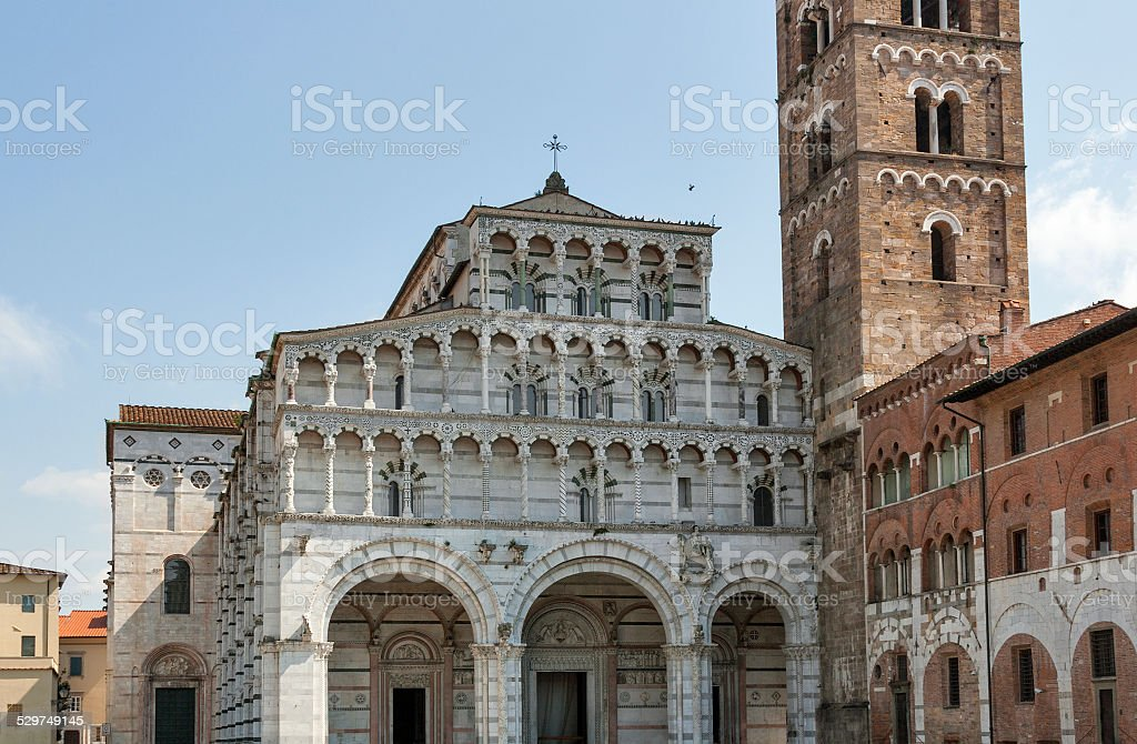 Cathedral of San Martino in Lucca, Italy stock photo