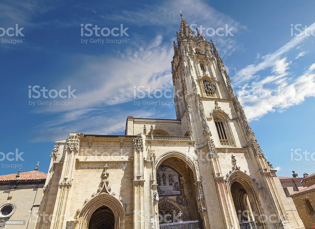 Cathedral of San Salvador in Oviedo, Spain stock photo