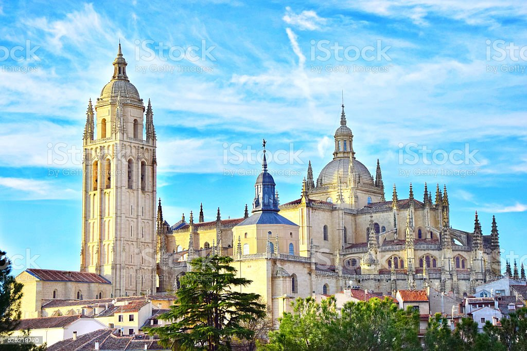 Cathedral of Santa María de Segovia stock photo