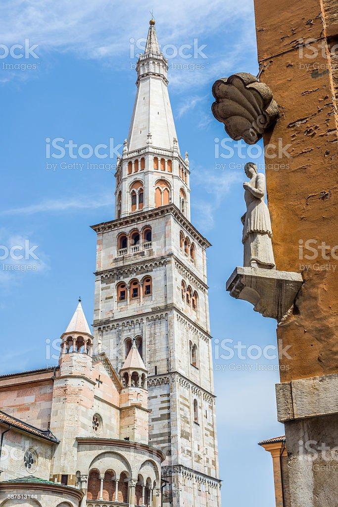 Cathedral of Santa Maria Assunta e San Geminiano. Modena, Italy. stock photo