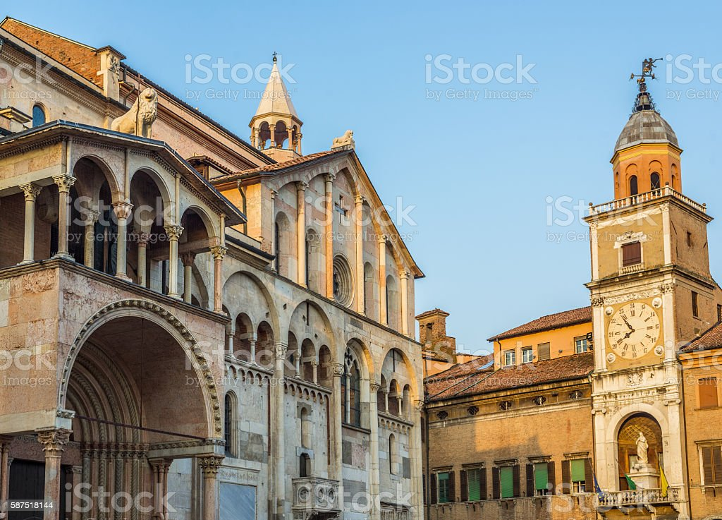 Cathedral of Santa Maria Assunta e San Geminiano of Modena. Italy. stock photo