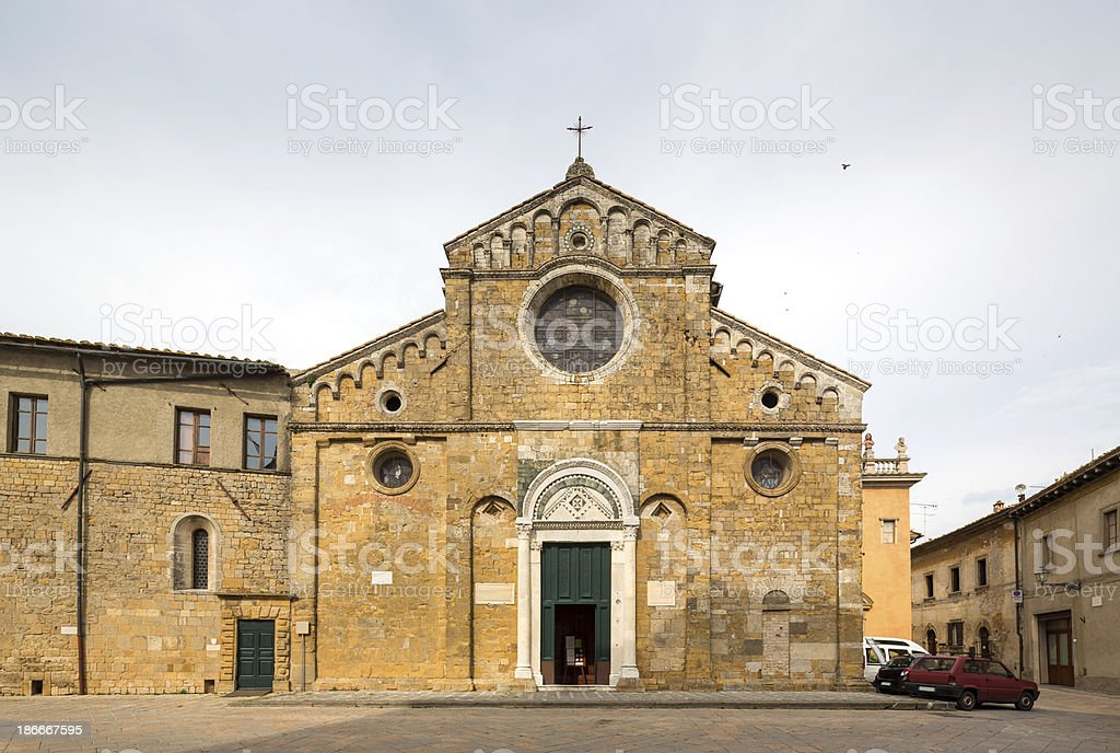 Cathedral of Santa Maria Assunta, Volterra Tuscany Italy royalty-free stock photo