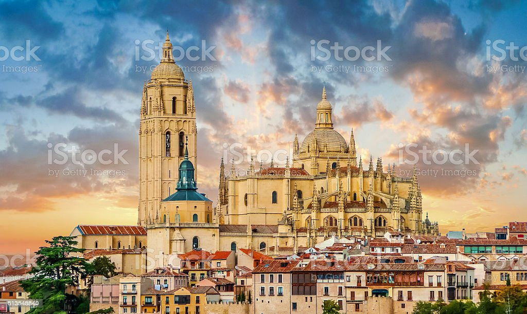 Catedral de Santa Maria de Segovia, Castilla y Leon, Spain stock photo